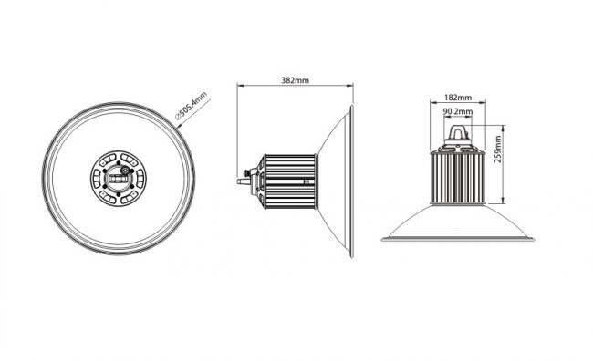 60W to 500W Industrial LED High Bay Light 60W Osram Philips LED 3030