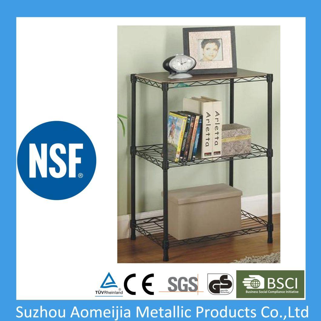 NSF Household Light Duty 4 Tiers Chrome Metal Wire Shelving