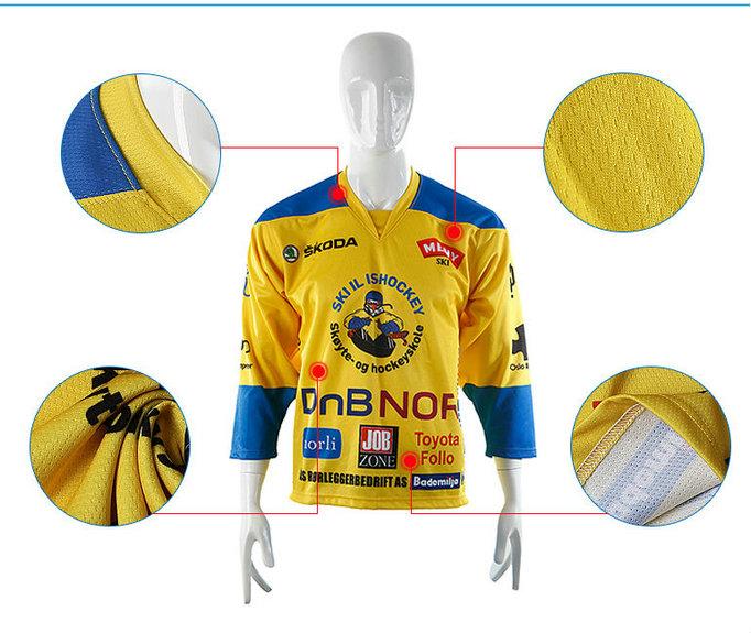 Custom Made Ice Hockey Jerseys Sublimation/Tackle Twill/Embroidered Hockey Custom Hockey Jersey