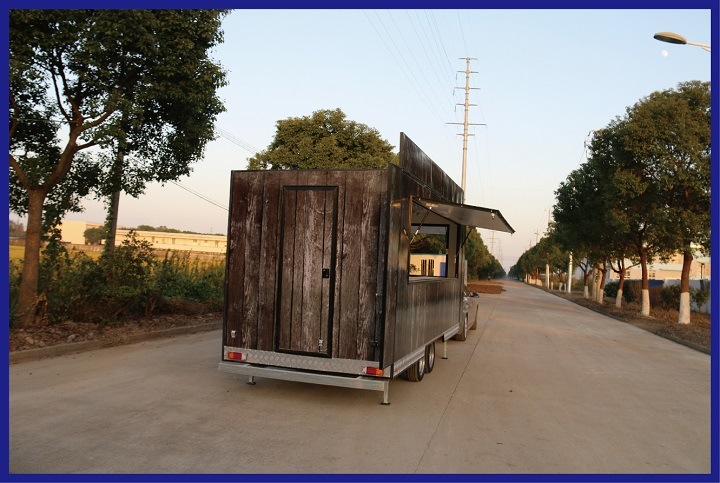 Mobile Food Van Kiosk Catering Trailer Fried Ice Cream Rolled Machine for Sale