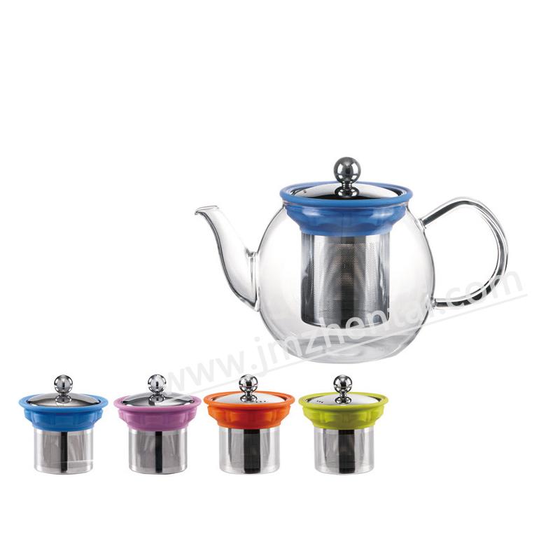 Whole Classic Promotional Borosilicate Glass Tea Pot with Filter