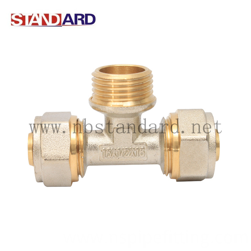Brass fittings for pex al pex pipe compression fitting for Copper pipe to pex fitting