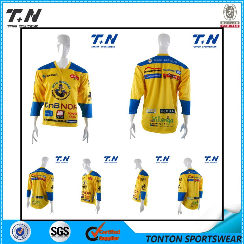 Wholesale Reversible Sublimation Cheap Custom Ice Hockey Jersey
