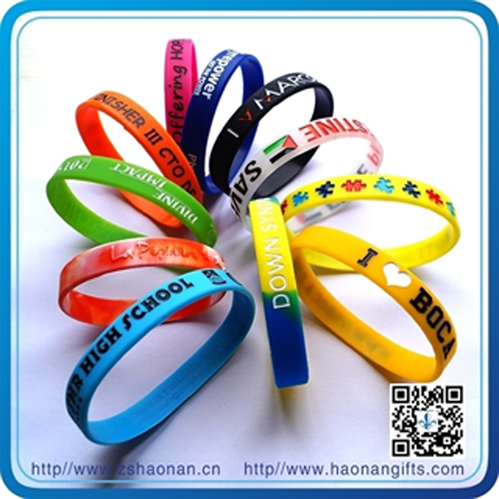Cheap Giveaways Bulk Silicone Wristbands (HN-SB-007)