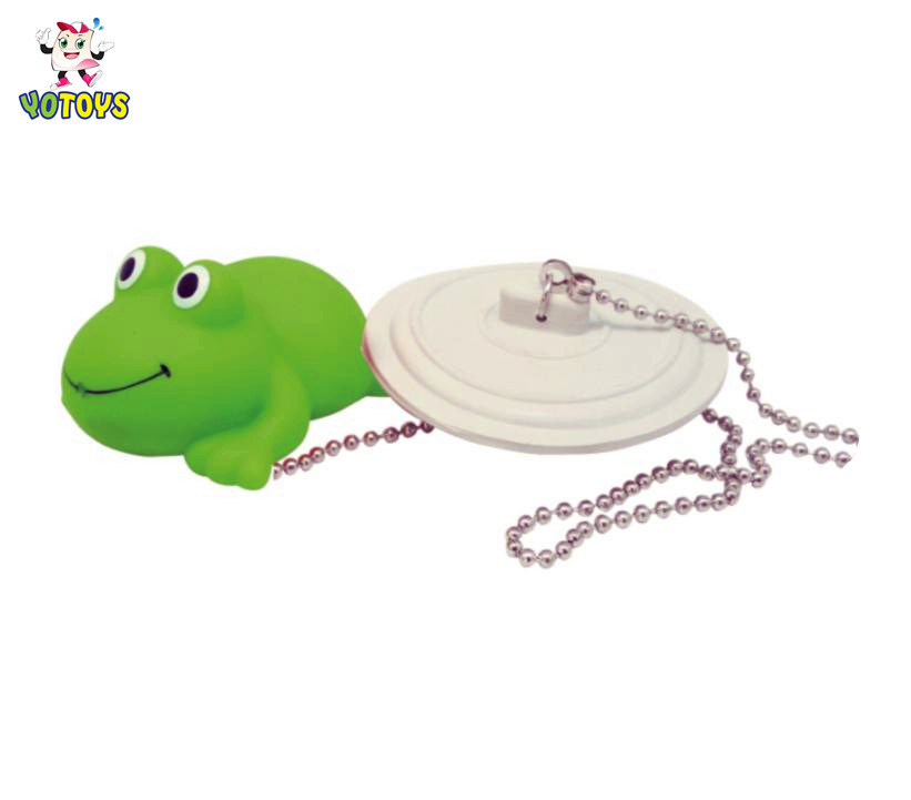 Basin Sink Drain Plug Water Stopper with Rubber Frog Toy