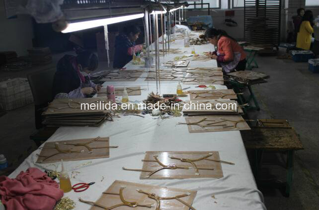 Handmade Iron on Sandal Trims with Clear Crystal & Diamond Ornaments