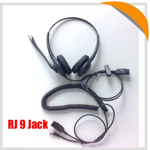 Best Selling Binaural Rj9 Call Center Telephone Headset
