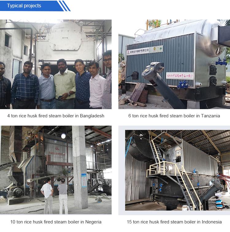 Industrial Biomass Rice Husk Fired Steam Boiler Nigeria