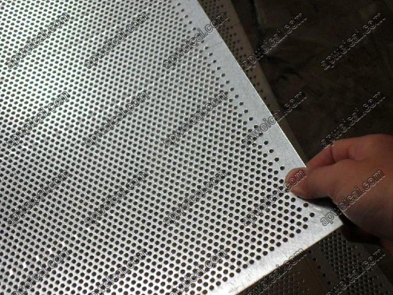 Round Hole 60 Degree Staggered Punching Metal Sheet Mesh