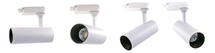 Spotlight Track Lighting Kit LED, Flush Mount Exterior Designer White LED Track Light