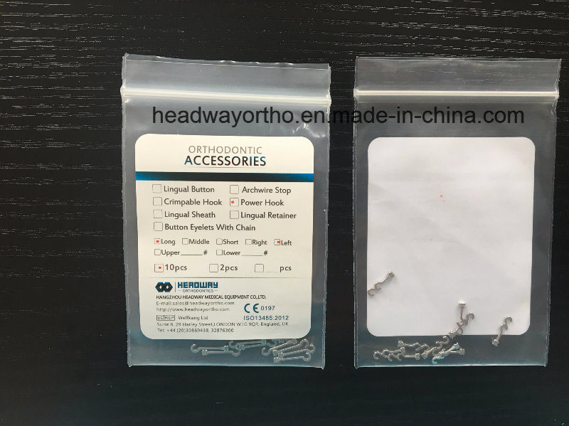 Dental Accessory, Orthodontic Double Hook Power Hook with Ce