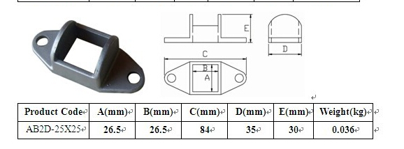 Hot Sale Cast Aluminum Fence Panel Brackets