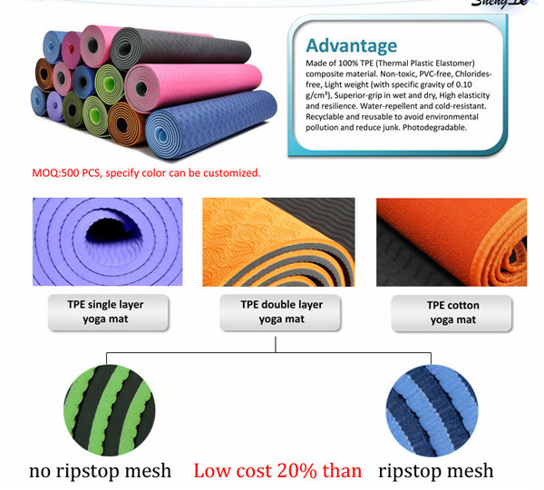 High Quality EVA /TPE Yoga Mat for Exercise