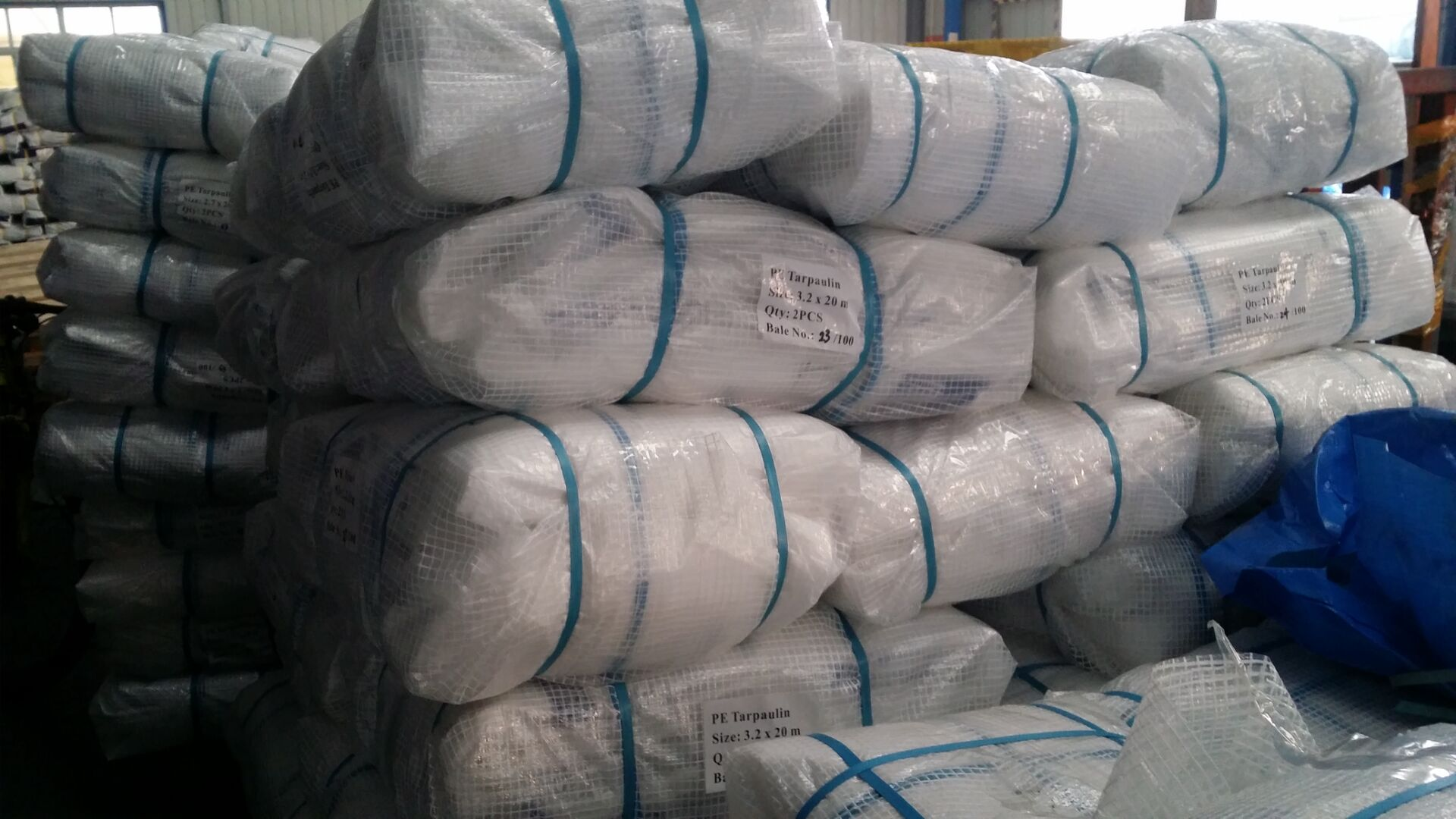 PE leno tarpaulin sheet packing