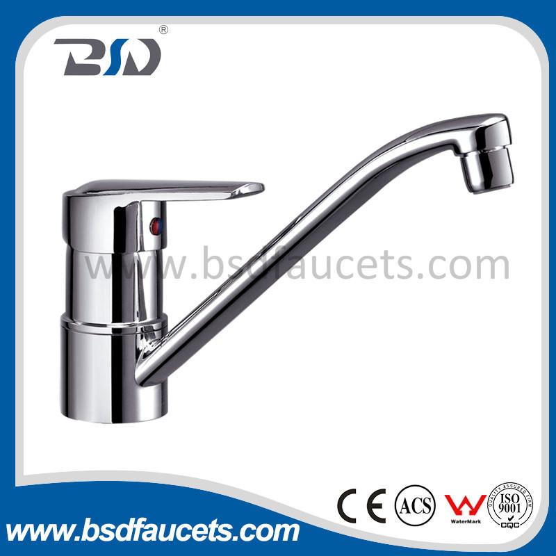 Brass Chrome Single Lever Kitchen Sink Mixer