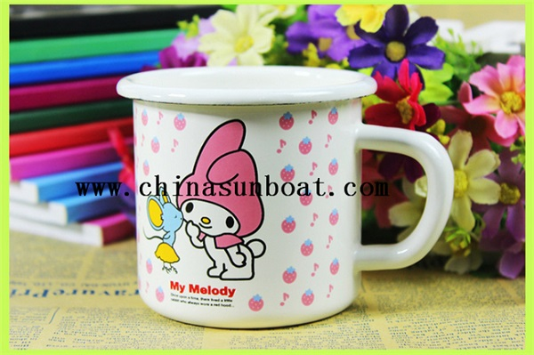 Enamel Cuetomized Printing Travel Cup