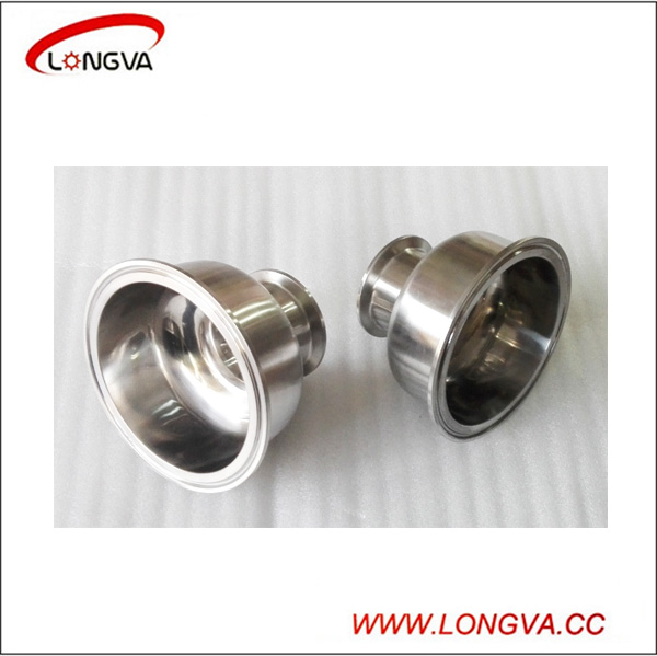 Sanitary Stainless Steel Bowl Cap Tri Clamp Concentric Reducer Pipe Fittings
