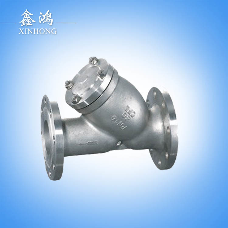 304 Stainless Steel Flanged Strainer Valve Dn15 Made in China