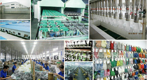 PVC Dotted Canvas Cotton Industrial Safety Work Gloves (DCD308)