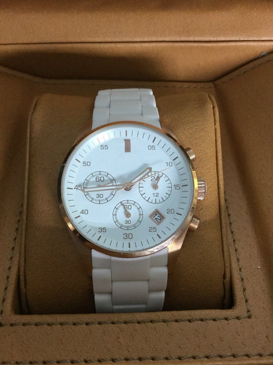 Authentic Big Branded Ceramic Watch with 3eyes and Pushers and Date Window