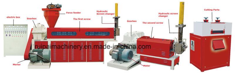 Double Screw Waste Plastic Granulator Machine