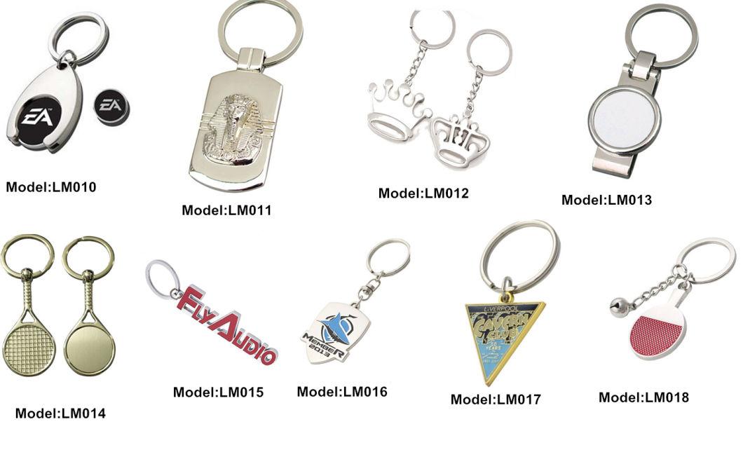 Customized Logo Metal Fashion Design Black Keychain