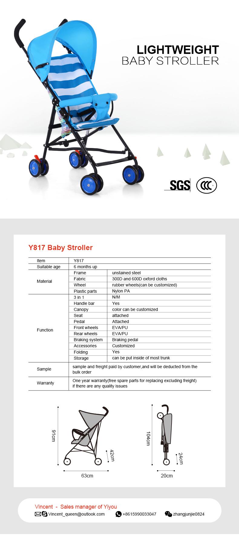 Yiyou Foldable Stroller for Kids