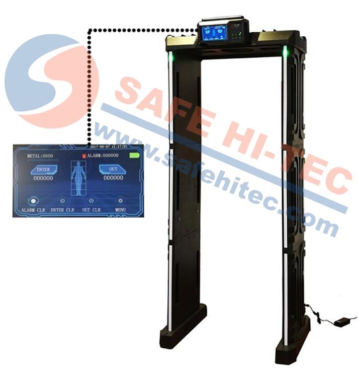 M-scope Portable Folding Archway Walk Through Metal Detector Gate SA300F(SAFE HI-TEC)