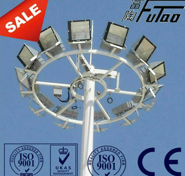 Futao Lifting System 25m Galvanized High Mast Pole
