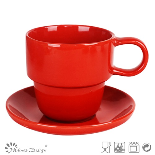 High Quality Solid Color Cup and Saucer