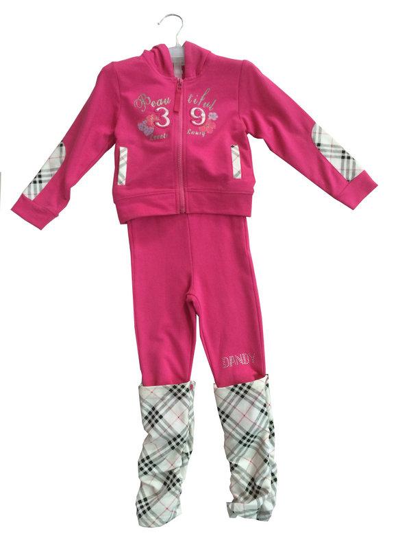 Fashion Girl Fleece Suit in Children Clothing Sport Wear (SWG-118)