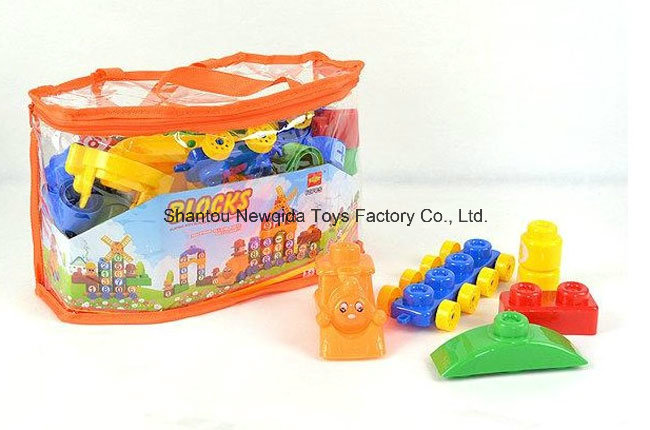 a Bag of Plastic Letter Number Learning Building Blocks Toys