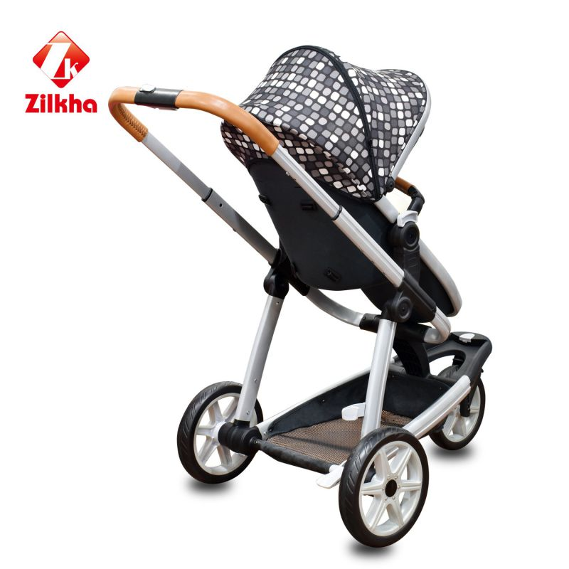 Baby Stroller with Frame and Hot Pressing Seat