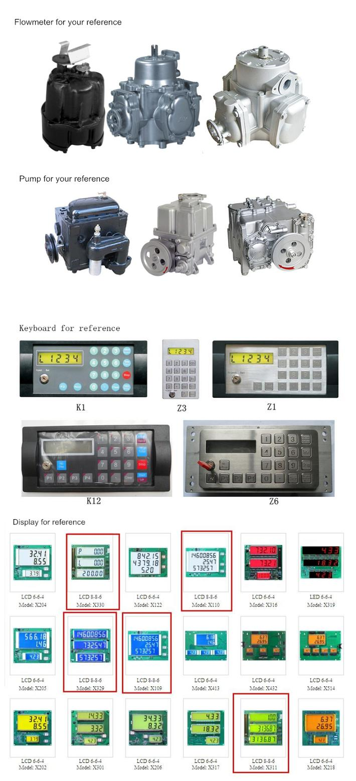 1-Pump&2-Nozzle&4-Displays (Rt-C124) Fuel Dispenser