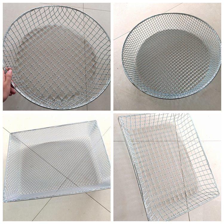 Steel Wire Mesh Pallet Basket / Storage Basket