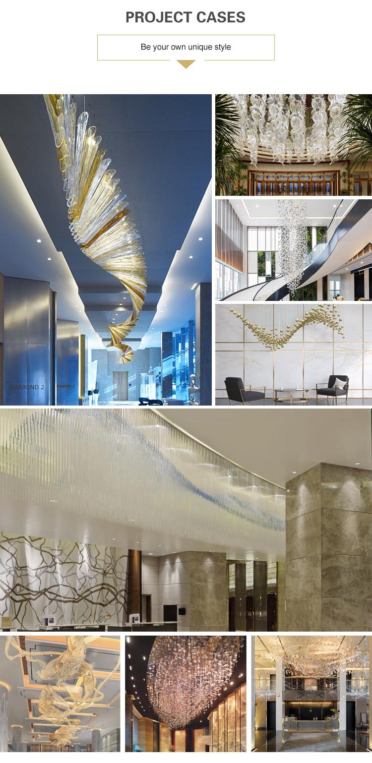 Custom warm design wedding hotel club restaurant decoration crystal glass chandelier light