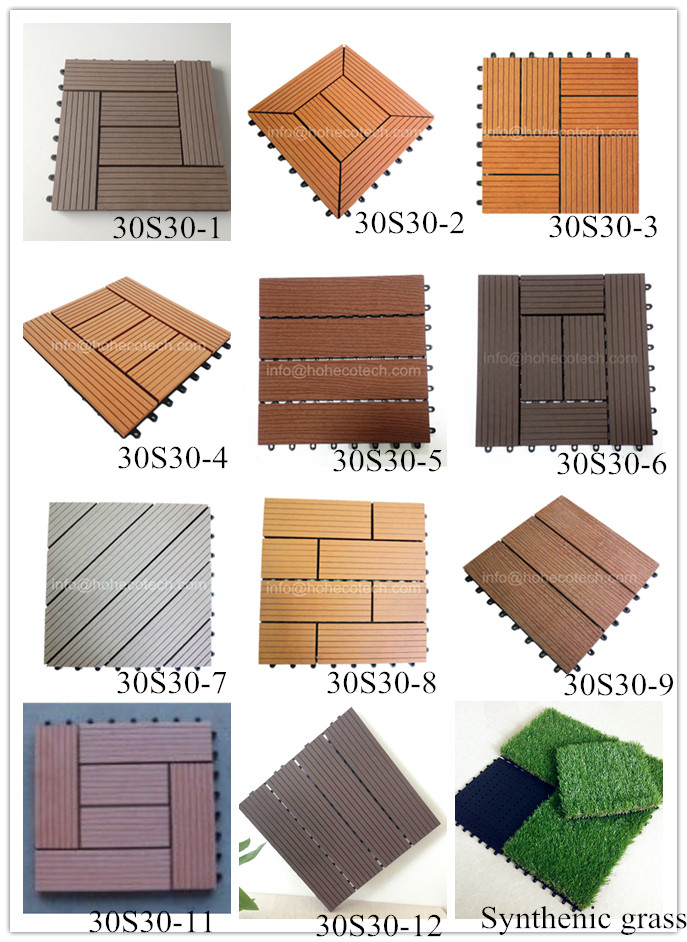 Composite WPC Deck Texture Wood Tile Outdoor