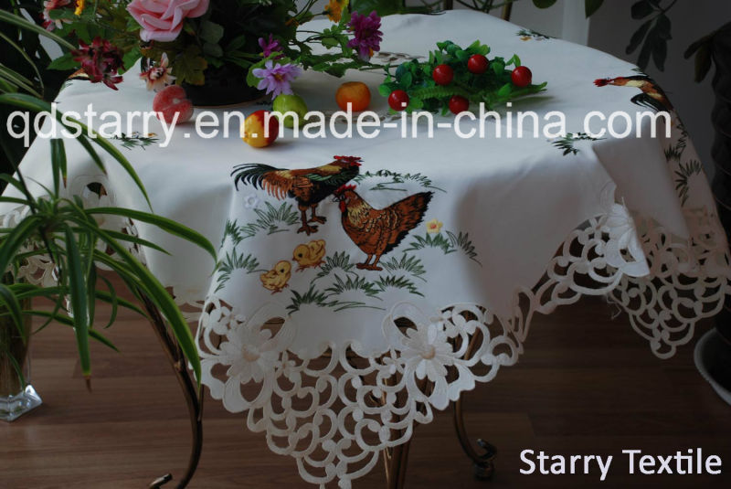 Fh-12 Rabbit Design Tablecloth Easter Use