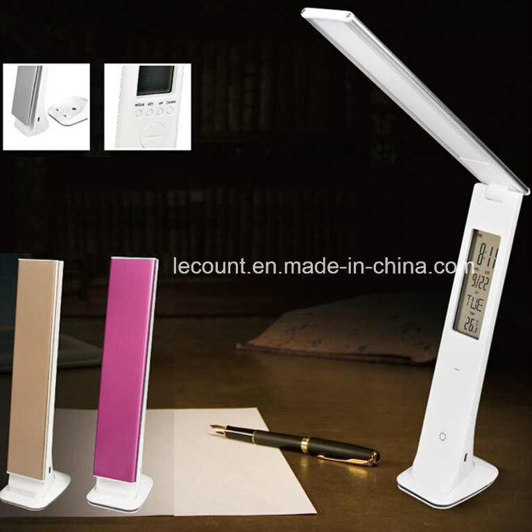 Rechargeable LED Desk Lamp with Calendar (LTB855)