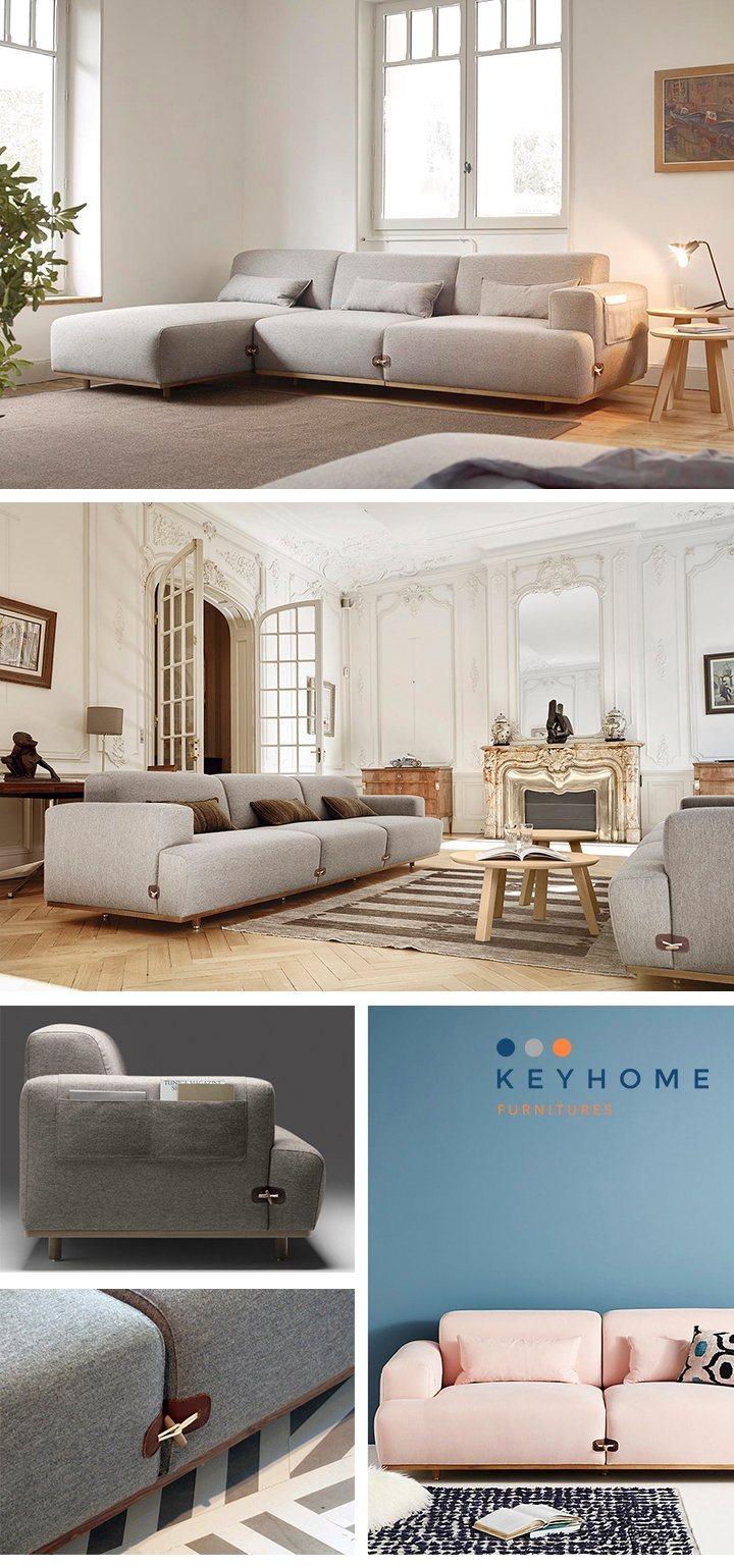 Modern Scandinavian Fabric Sofa & Sectional Sofa