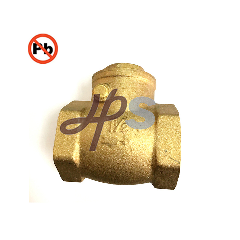 NSF-61 Standard Free Lead Brass Swing Check Valve for Drinking Water System