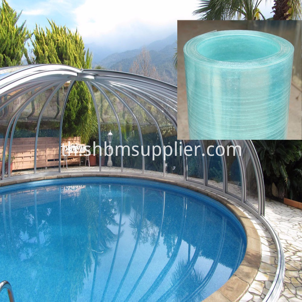 Transparent Anti-aging GFRP Sheets