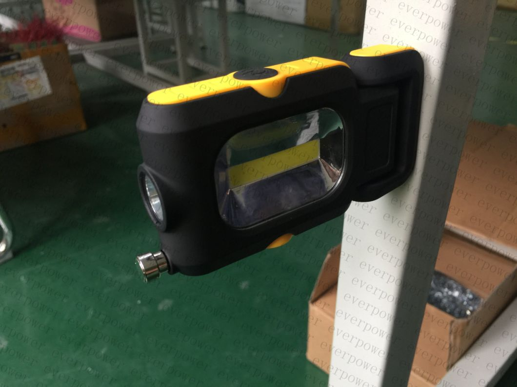 COB 3W LED Flashlight with Magnet Telescopic Pick up Tools