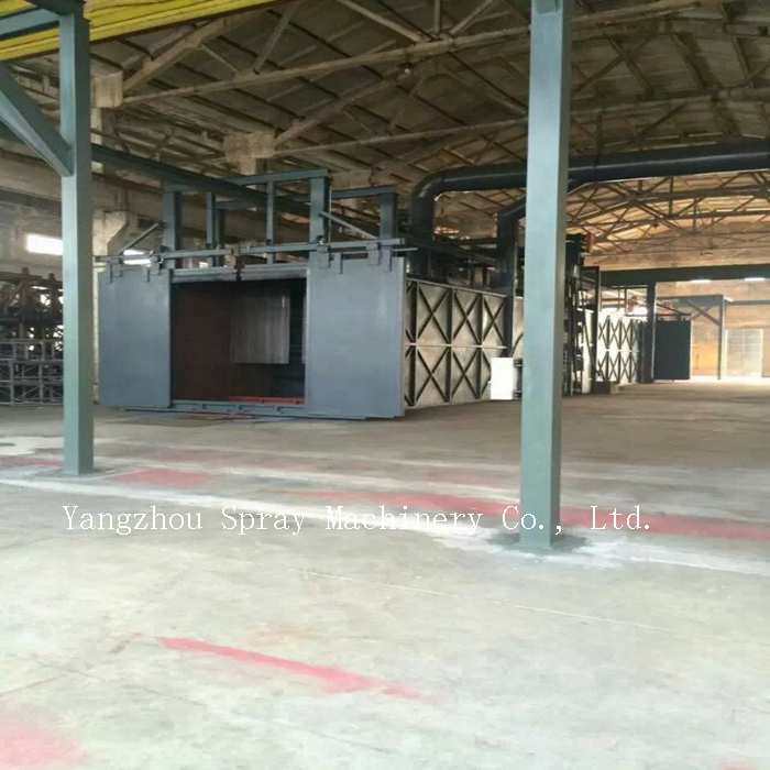 Yangzhou High Quality Water Rotation Painting Booth Spray Booth for Metal