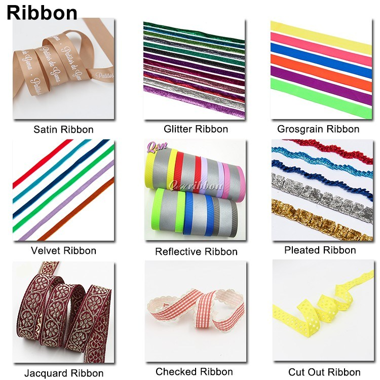 Fancy Printed Ribbon, Printed Grosgrain Ribbon for Christmas Gift Package Ribbon