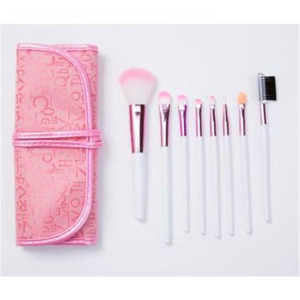 8PCS Portable Natural Hair Beauty Makeup Tools Cosmetic Makeup Brushes