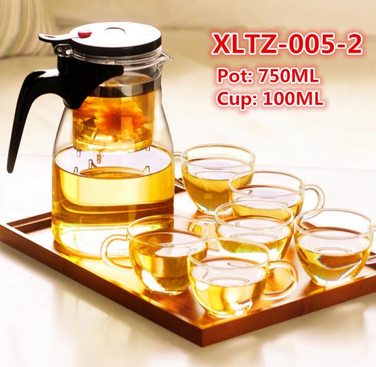 Glass Tea Set Customized Cup Logo