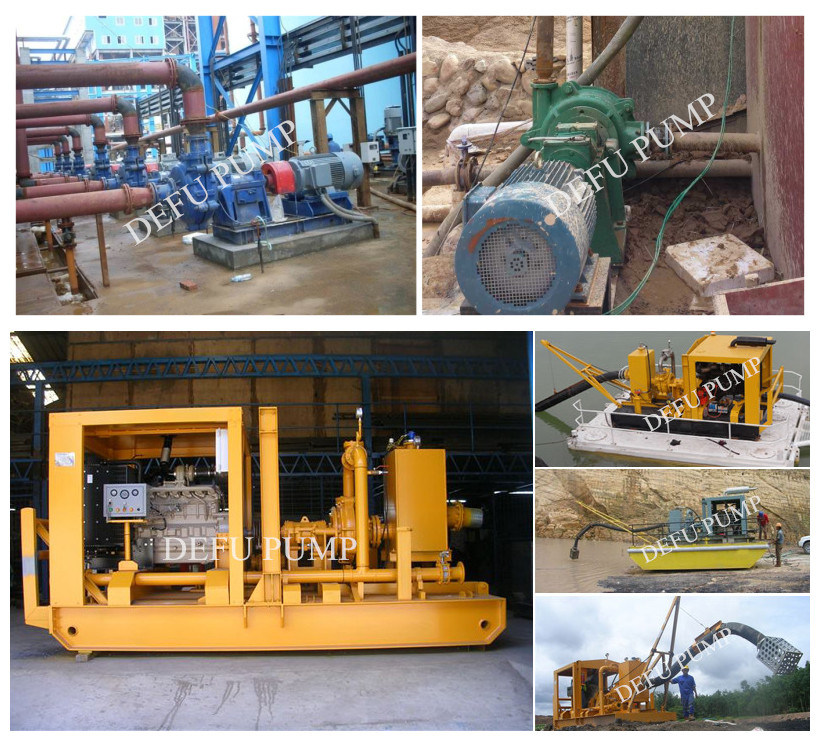 Big Particles Transfer Mining Centrifugal Pump with Electric Motor