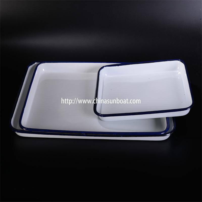 Sunboat Enamel Rectangular Pie Dish Kitchenware