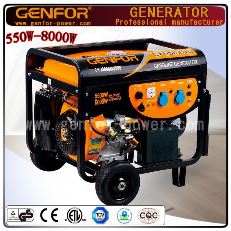 5kw Home Used Portable Power Gasoline Generator